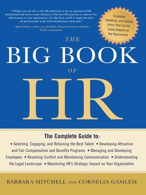 cover image of The Big Book of HR