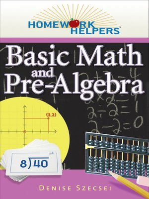 cover image of Basic Math and Pre-Algebra