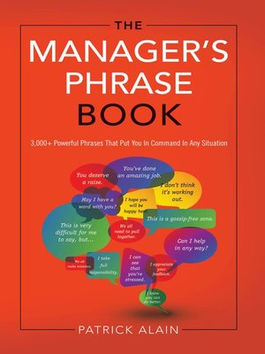 cover image of The Manager's Phrase Book