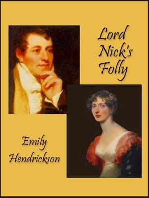 cover image of Lord Nick's Folly