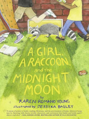 cover image of A Girl, a Raccoon, and the Midnight Moon