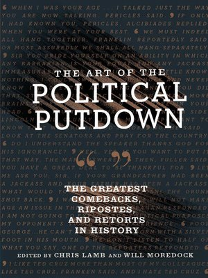 cover image of The Art of the Political Putdown