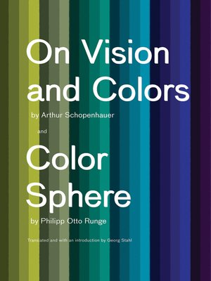 cover image of On Vision and Colors