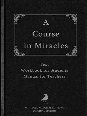 cover image of A Course in Miracles