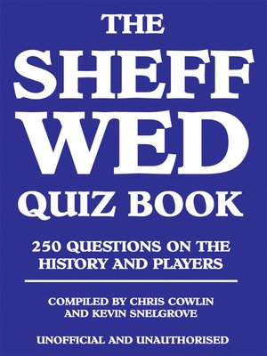 cover image of The Sheff Wed Quiz Book