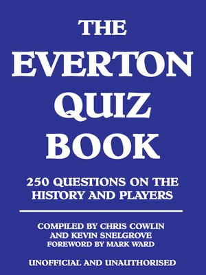 cover image of The Everton Quiz Book