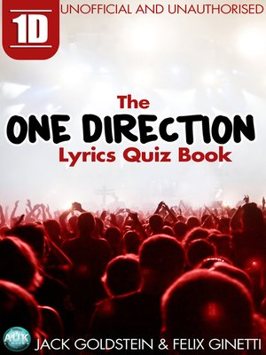 cover image of 1D: The One Direction Lyrics Quiz Book