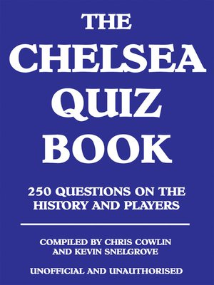 cover image of The Chelsea Quiz Book