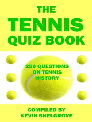 cover image of The Tennis Quiz Book