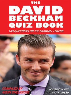 cover image of The David Beckham Quiz Book