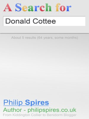 cover image of A Search for Donald Cottee