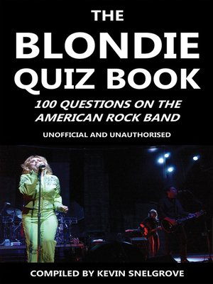 cover image of The Blondie Quiz Book