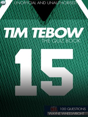cover image of Tim Tebow - The Quiz Book