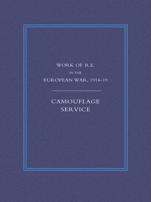 cover image of Work of the Royal Engineers in the European War 1914-1918