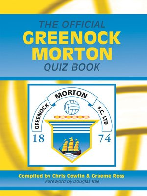 cover image of The Official Greenock Morton Quiz Book