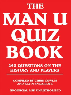 cover image of The Man U Quiz Book