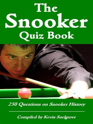 cover image of The Snooker Quiz Book