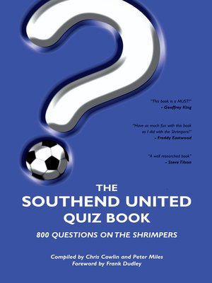cover image of The Southend United Quiz Book