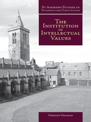 cover image of The Institution of Intellectual Values