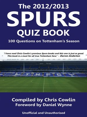 cover image of The 2012/2013 Spurs Quiz Book