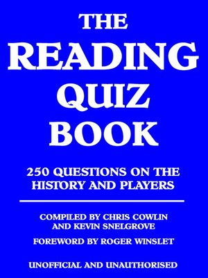 cover image of The Reading Quiz Book