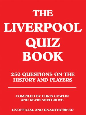 cover image of The Liverpool Quiz Book