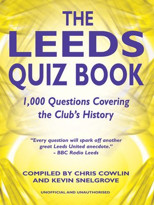 cover image of The Leeds Quiz Book