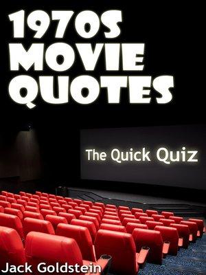 cover image of 1970s Movie Quotes - The Quick Quiz