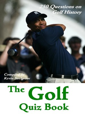 cover image of The Golf Quiz Book