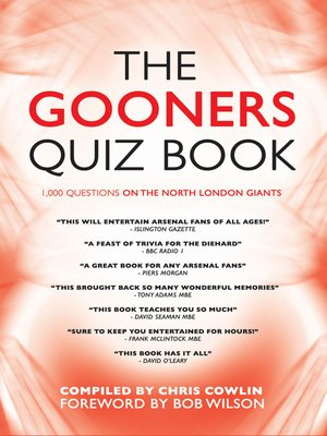 cover image of The Gooners Quiz Book