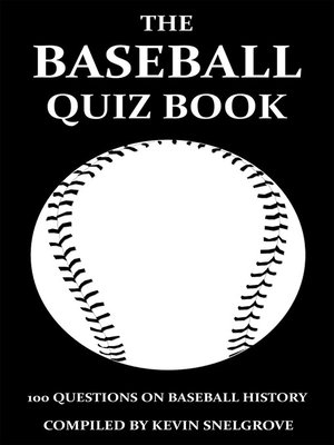 cover image of The Baseball Quiz Book