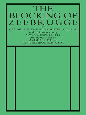 cover image of The Blocking of Zeebrugge