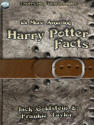 cover image of 101 More Amazing Harry Potter Facts