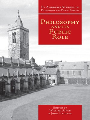 cover image of Philosophy and Its Public Role