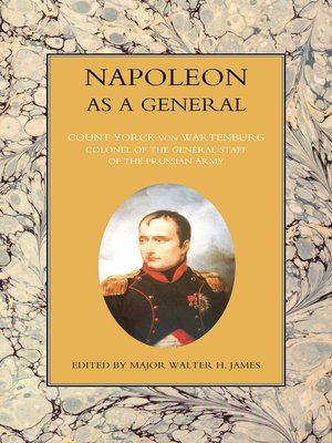 cover image of Napoleon as a General, Volume 2