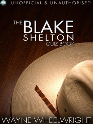 cover image of The Blake Shelton Quiz Book