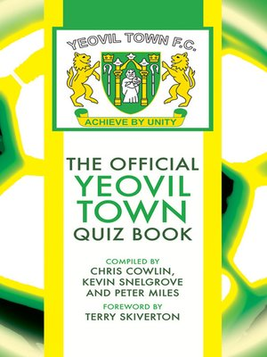cover image of The Official Yeovil Town Quiz Book