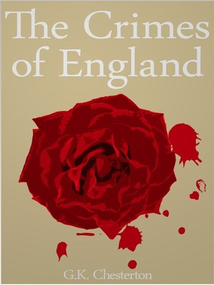 cover image of The Crimes of England