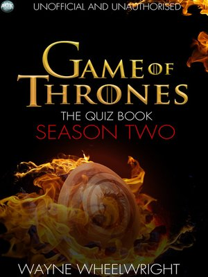 cover image of Game Of Thrones The Quiz Book - Season Two