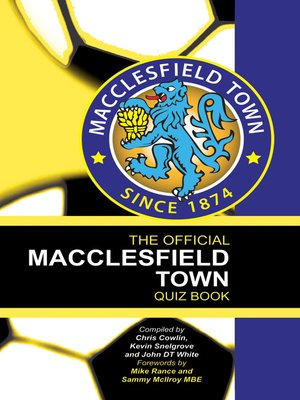 cover image of The Official Macclesfield Town Quiz Book