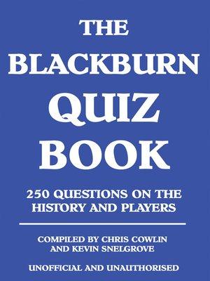 cover image of The Blackburn Quiz Book