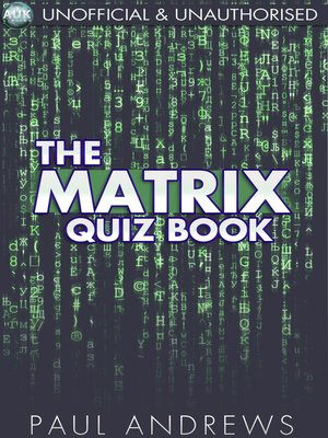 cover image of The Matrix Quiz Book