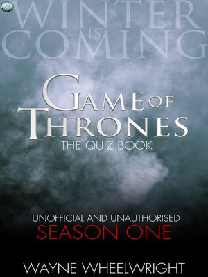 cover image of Game Of Thrones The Quiz Book -  Season One