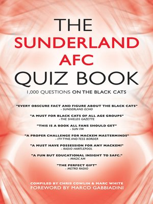 cover image of The Sunderland AFC Quiz Book