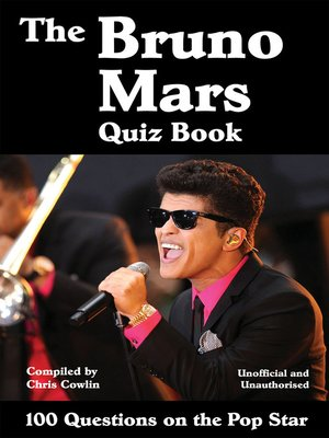 cover image of The Bruno Mars Quiz Book