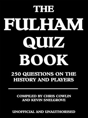 cover image of The Fulham Quiz Book