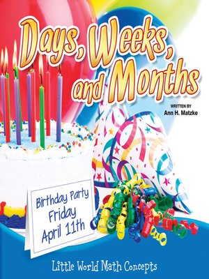 cover image of Days, Weeks, and Months