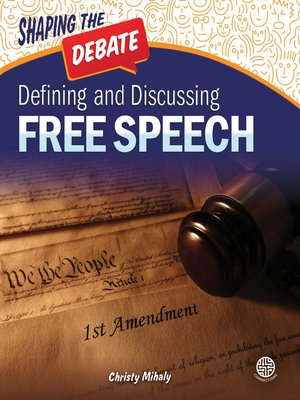 cover image of Defining and Discussing Free Speech