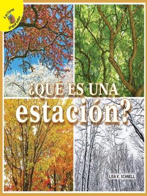 cover image of Mi Mundo (My World) ¿Qué es una estación?
