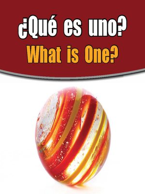 cover image of ¿Qué es uno? (What Is One?)